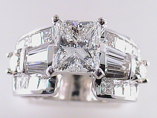 3.45 Carat Princess Cut Diamond Engagement Ring SOLD