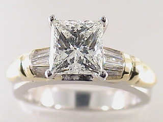 2.50 Carat Princess Cut Diamond & Platinum Engagement Ring SOLD