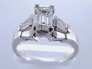 1.72 Carat GIA Certified Emerald Cut Diamond Engagement Ring SOLD
