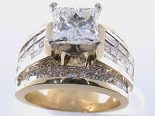5.80 Carat EGL Certified Princess Cut Diamond Engagement Ring SOLD