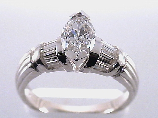 1.81 Carat EGL Marquise Cut Diamond Engagement Ring SOLD