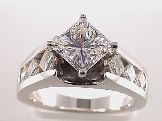 2.31 Carat Princess Cut Diamond Engagement Ring SOLD