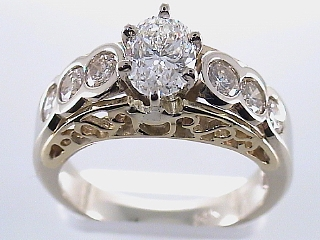 1.79 Carat EGL Certified Oval Diamond Engagement Ring SOLD