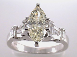 2.39 Carat Fancy Yellow Marquise Diamond Engagement Ring SOLD