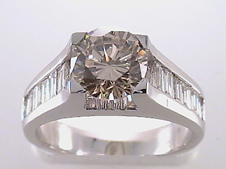 2.36 Carat Fancy Champagne Diamond Engagement Ring SOLD