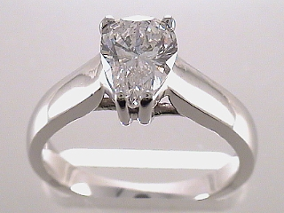 1.02 Carat GIA Pear Shaped Diamond Engagement Ring SOLD