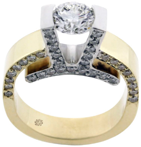 2.10 Carat EGL Ideal Cut Suspension Tension  Diamond Ring SOLD