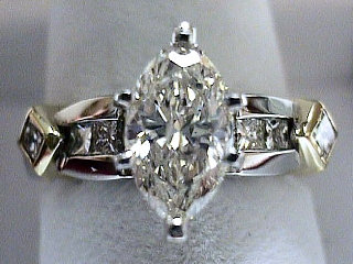 1.76 Carat Marquise Cut Diamond Engagement Ring SOLD