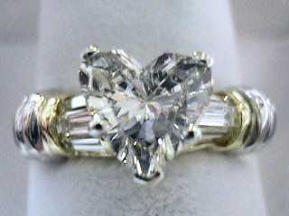 1.94 Carat Heart Shaped Diamond & Platinum Engagement Ring SOLD