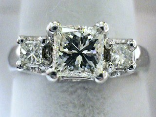 1.44 Carat EGL VVS Princess Engagement Ring SOLD