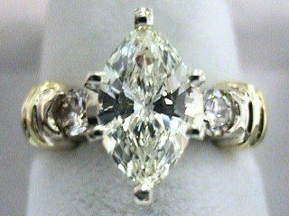 1.69 Carat One Time Marquise Cut Diamond Engagement Ring SOLD