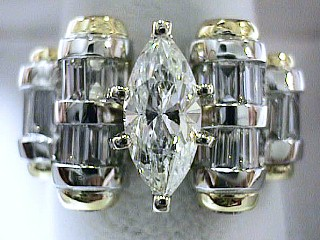 4.10 Carat Excellent Cut EGL Marquise Engagement Ring SOLD