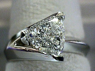 .70 Carat Contemporary Trilliant Cut Diamond Solitaire SOLD