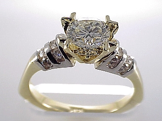 1.78 Carat Heavy Prong Brilliant Cut Diamond Ring SOLD
