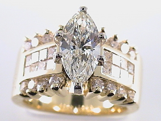 3.28 Carat Marquise Cut Diamond Engagement Ring SOLD