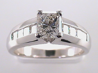 1.78 Carat EGL Radiant & Princess Diamond Engagement Ring SOLD