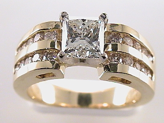 2.20 Carat Princess Cut Diamond Engagement Ring SOLD