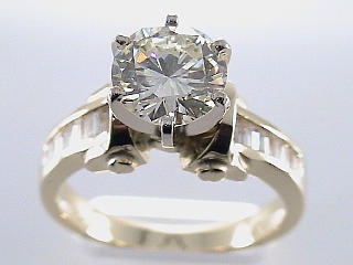 2.75 Carat Round Brilliant Cut One Time Engagement Ring SOLD