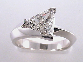 1.03 Carat EGL Trilliant Cut Diamond Engagement Ring SOLD