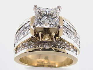 5.80 Carat EGL Princess Cut Diamond Engagement Ring SOLD