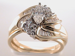 1.41 Carat Marquise Cut Diamond Engagement Ring SOLD