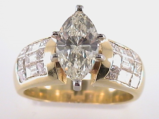 3.26 Carat Marquise Cut  Diamond Engagement Ring SOLD