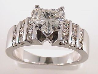 2.18 Carat Heart Shaped Diamond Engagement Ring SOLD