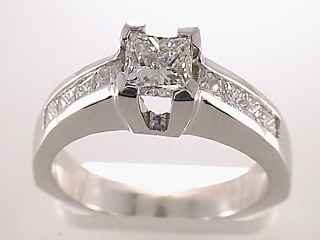 1.40 Carat EGL Princess Diamond Engagement Ring SOLD