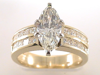 2.70 Carat Marquise Cut Diamond Engagement Ring SOLD