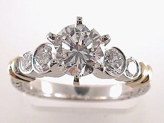 1.98 Carat Round Cut Diamond Engagement Ring SOLD