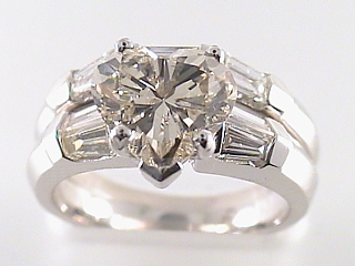 2.55 Carat Heart Shaped Diamond & Platinum Engagement Ring SOLD