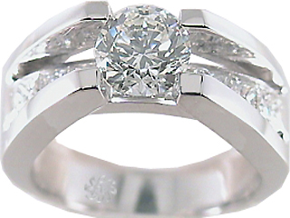 1.85 Carat Suspended EGL Diamond Engagement Ring SOLD