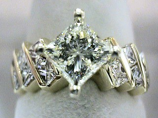2.57 Carat Star Set Princess Cut Diamond Solitaire SOLD