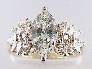 2.71 Carat Marquise Cut Diamond Engagement Ring SOLD