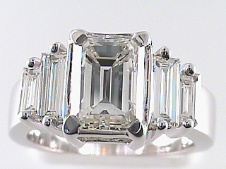 4.44 Ct EGL Emerald Cut Diamond Engagement Ring SOLD