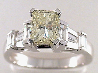 2.40 Carat Fancy Yellow Radiant Cut Diamond Engagement Ring SOLD