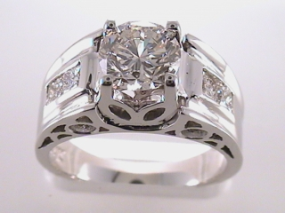 1.84 Carat Round Cut Diamond Engagement Ring SOLD