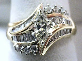 .98 Carat Two Piece Marquise Diamond Engagement Ring SOLD