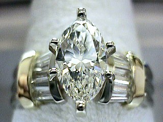 2.11 Carat Custom One Time Marquise Cut Engagement Ring SOLD