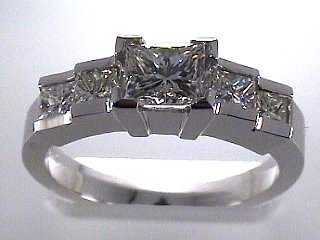 1.71 Carat EGL Certified Princess Cut Diamond Step Style Ring SOLD
