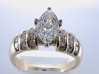 1.70 Carat Marquise Diamond Engagement Ring SOLD