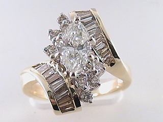 2.20 Carat Marquise Cut Diamond Engagement Ring SOLD