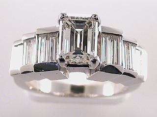 2.86 Carat GIA Emerald Cut Diamond Engagement Ring SOLD