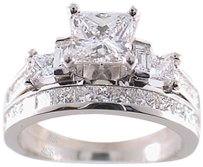 2.40 Carat Corina2 Diamond 14Kt White Gold Engagement Ring