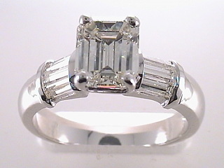 2.87 Carat Emerald Cut Diamond Engagement Ring SOLD