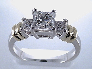 1.37 Carat GIA Certified Princess Cut Two Tone Ring SOLD