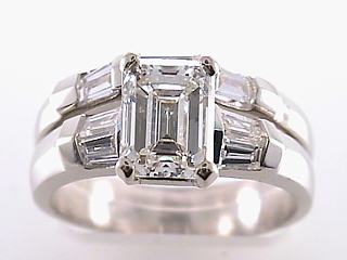 2.45 Carat EGL Emerald Cut Diamond Ring SOLD