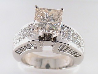 6.65 Carat Fancy Princess Diamond Engagement Ring SOLD