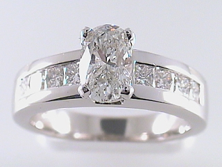1.80 Carat PGS Certified Oval Cut Diamond Engagement Ring SOLD