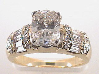 2.10 Carat Oval Cut Diamond Engagement Ring SOLD